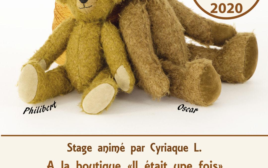 Stage de fabrication d'ours en peluche à l'ancienne à Paris